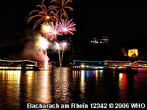 Mittelrhein-Lichter-Feuerwerk in Bacharach am Rhein